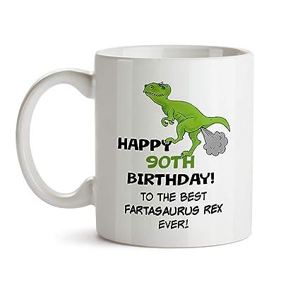 90th Birthday Dinosaur Gift Mug