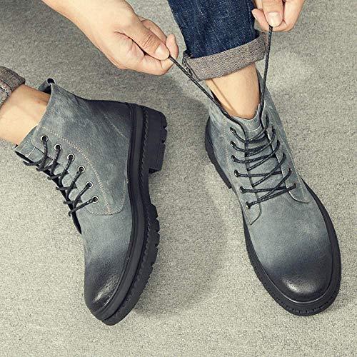 42eu Vintage Hautes Désert Taille Hommes Mode Du Noir Gris coloré Martin Bottes Pour Fuxitoggo 7F1p4Fq