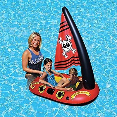 Flotador inflable flotante de la piscina del barco del pirata del ...