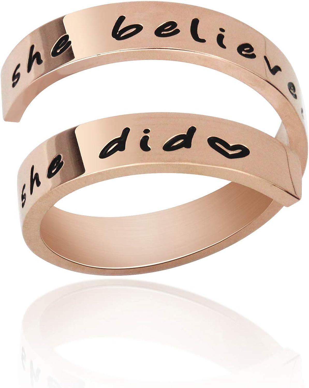 LIUANAN Jewellery Ring Jewelry Personalized Rings Birthday Graduation Gifts for Women Girls Men Teen