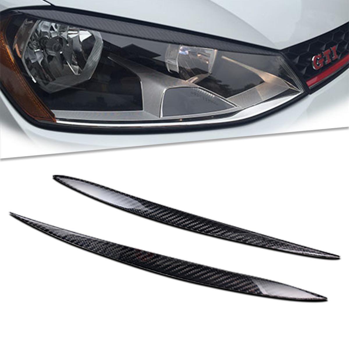 Pá rpado Cejas de fibra de carbono cabeza luz car-wear