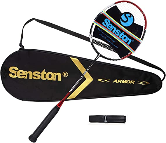 Senston N80 Graphite Unique de Haute qualit/é Raquette de Badminton en Fibre de Carbone Raquette de Badminton y Compris Badminton Sac