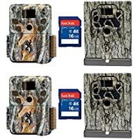 Browning Trail Cameras Strike Force Pro Game Camera, 2 Pack + Boxes & SD Cards