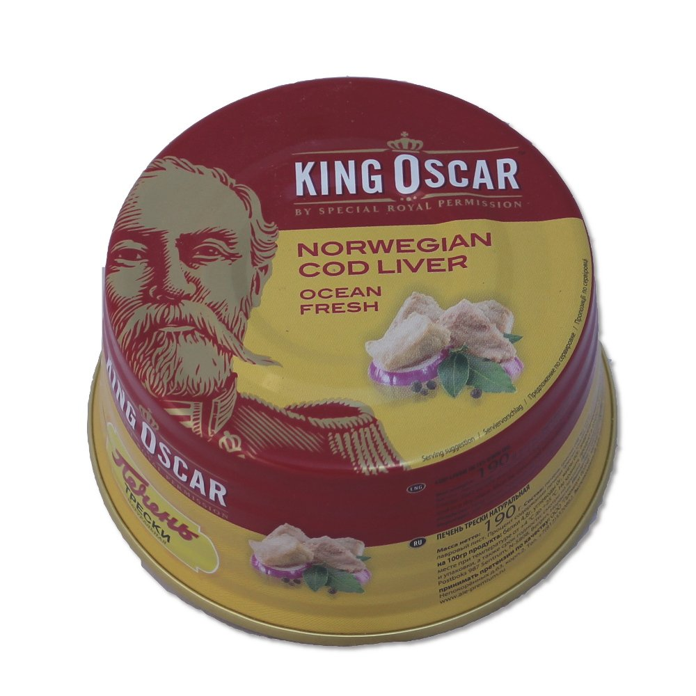 King Oscar Cod Liver in Own Oil, 6.67-Ounces Tins, 190 Gram, (Pack of 3) by King Oscar