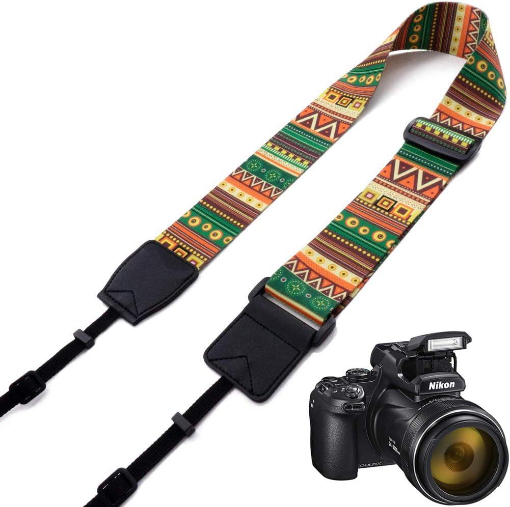 Red Aztec Striped Elvam Universal Men and Women Camera Strap Belt Compatible for All DSLR Camera and SLR Camera