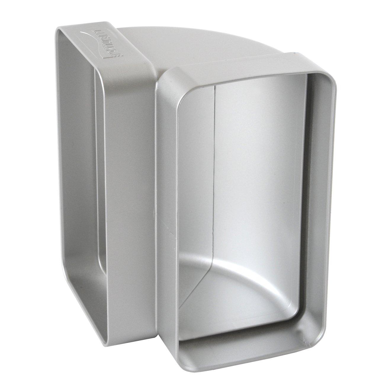 120/x 60/mm La ventilaci/ón ccv126ac-y curva vertical de ABS para tubo rectangular cromado satinado