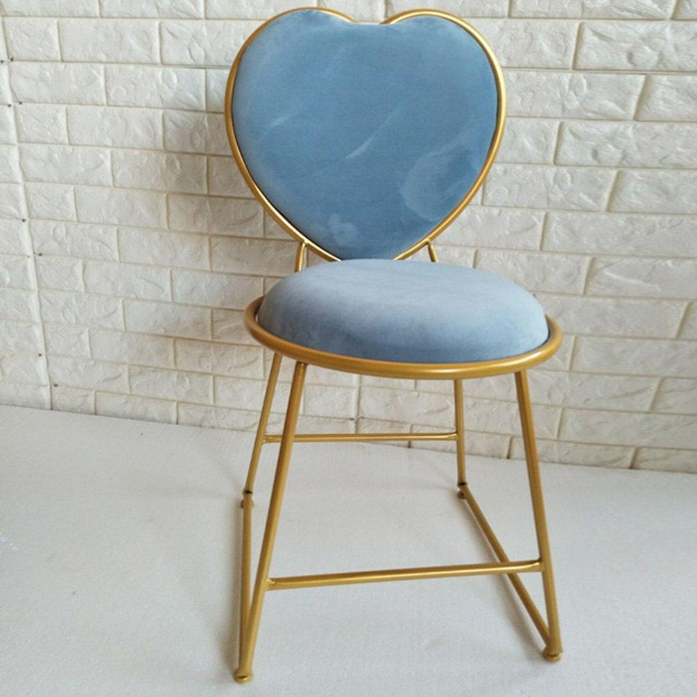 RFJJ RFJJ RFJJ Einfache und Moderne goldene Kommode Stuhl Hocker Kaffee Tee Lounge Stuhl Eisen Esszimmerstuhl zurück Flanell Stuhl (Farbe   B) d0d46b