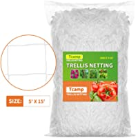Tcamp Heavy-Duty Polyester Plant Trellis Netting 5 x 15ft (1 Pack) (5 Ft X 15 Ft)