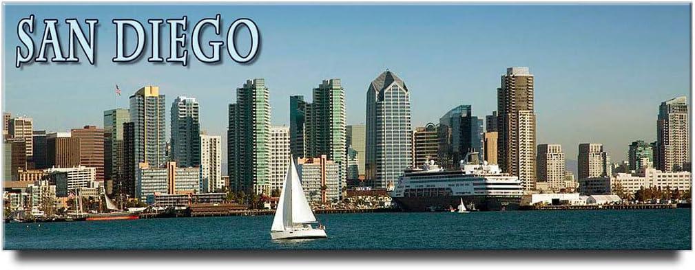 San Diego panoramic fridge magnet California travel souvenir