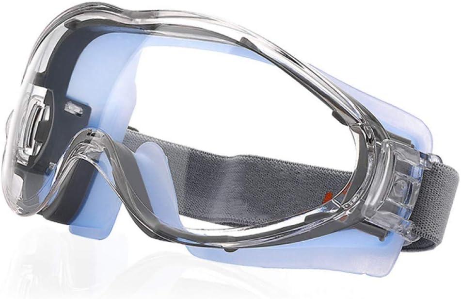 Adesign Contra la niebla gafas de seguridad - resistente a arañazos gafas protectoras Protección Hombres, impactado ojo sellado de protección Gafas de Trabajo sobre las gafas for el bricolaje, Moliend
