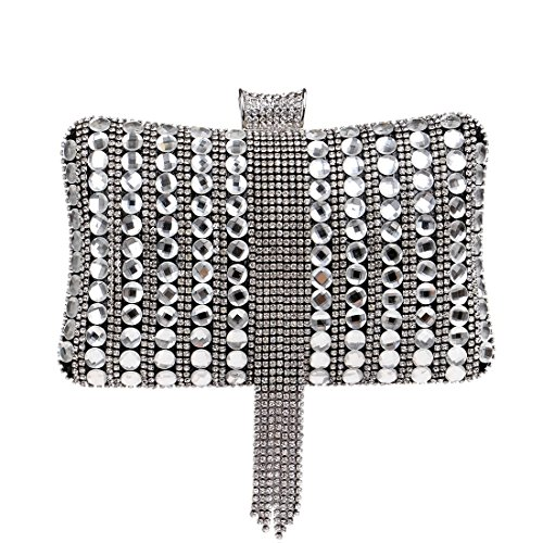 Tutu Mode Mariage Diamants Gland Perlé Soirée De Pochette Sacs À Bonbons Femmes Couleur Main Messenger Sac Métal Black rr6Rqn