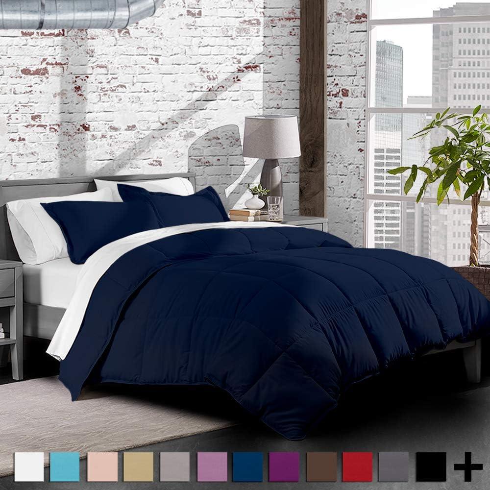 Dark Blue Premium XL Twin Comforter Set, Twin Extra Long