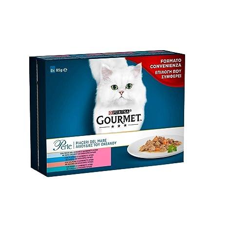 Gourmet Perle Alimento para el Gato, Piaceri del Mar con Salmón ...