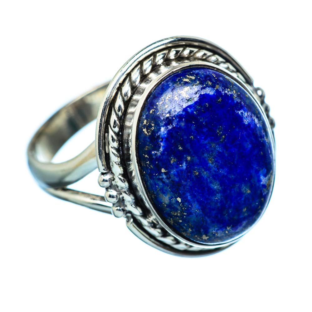 925 Sterling Silver Ana Silver Co Lapis Lazuli Ring Size 7.75 Vintage RING945638 - Handmade Jewelry Bohemian