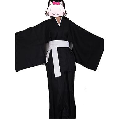 28f8142e0 Amazon.com: fantasycart Anime Bleach Death Cosplay Costume Shinigami Kimono  Specifications Black: Clothing