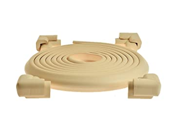 Baby Safety Bumpers /& Edge Guard to Child Proof Furniture. Ivory Table Corner Protectors for Baby Child Proofing /& Table Protector