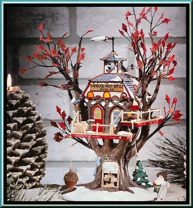 Department 56 North Pole Woods ''Oakwood Post Office Branch'' (Set of 2)