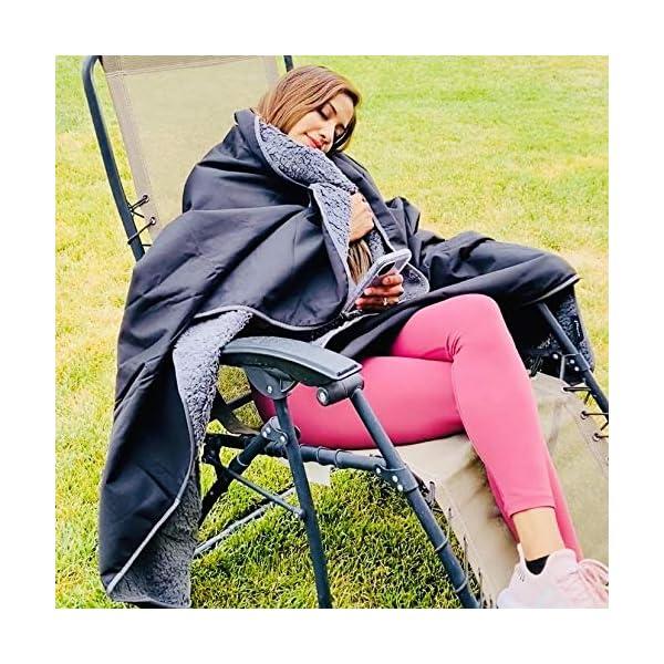 61kkE1q9h6L Kato Tirrinia Camping Decke wasserdichte, Outdoor Decke Hüttenschlafen Reisedecke Sanddichte Warm Picknickdecke Fleece…
