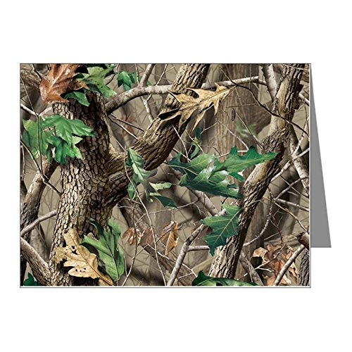 CafePress - Camo-Swatch-Hardwoods-Green - Blank Note Cards (Pk of 10) Matte