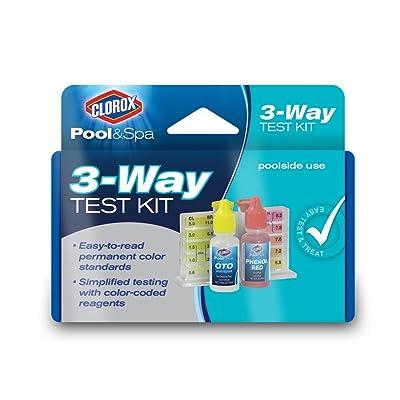 CLOROX Pool&Spa 70000CLX 3-Way Test Kit, Blue : Garden & Outdoor