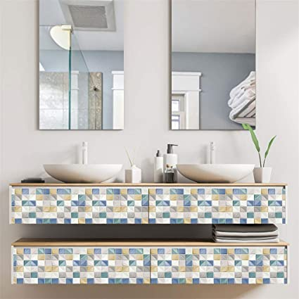 Amazon.com: NszzJixo9 Ceramic Tile Wall Sticker-Design Peel ...
