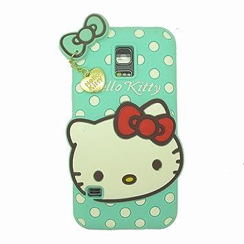 0d409a3e0ea ecenter Azul Hello Kitty suave piel funda Cover Carcasa Cubierta Caso Case  Skin de silicona para el teléfono móvil para Samsung Galaxy S5 Mini G800F  con ...