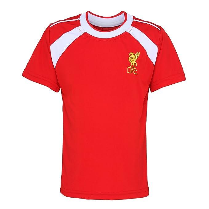 Liverpool FC - Camiseta oficial del Liverpool FC manga corta para niños - Fútbol/Deporte