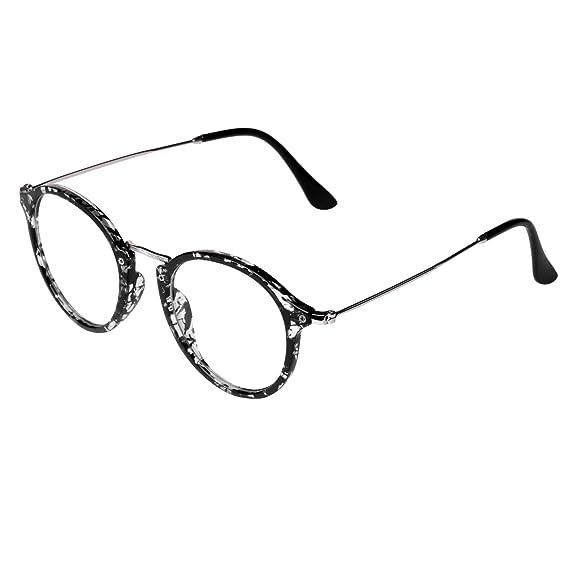Embryform Retro lunettes rondes frame hommes miroir plaine et les femmes visage religieux sauvages 9580 wfnvFA