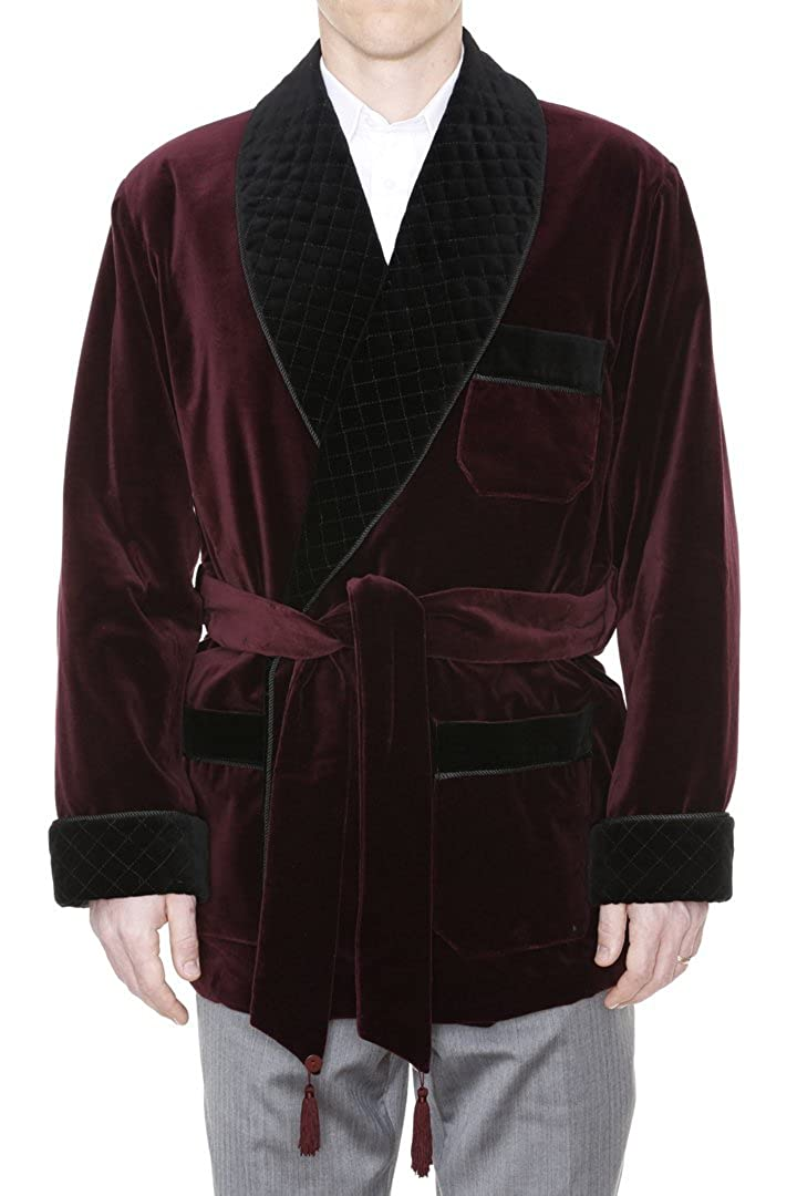 Mens Smoking Jacket William Burgundy