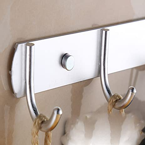 Fengg2030shann After Space Aluminum Clothes Hook Row Hooks Door Bathroom  Hanging Hook Wall Hanging Clothes Hanging