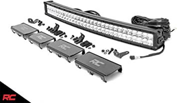 "Rough Country 30/"" LED Light Bar Dual Row CREE w// White DRL"