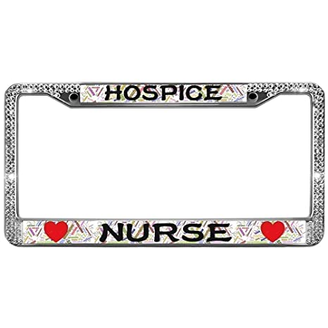 Amazon GND Hospice Nurse Diamond License Plate FrameRN Nurse Awesome Hospice Nurse Quotes