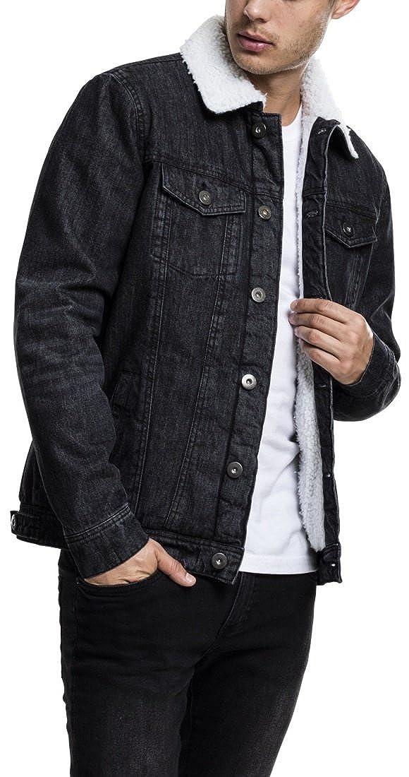 TALLA M. Urban Classics Sherpa Denim Jacket Chaqueta para Hombre