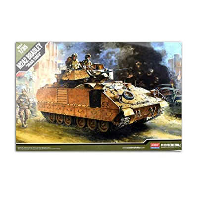 Academy 1/35 M2A2 Bradley Iraq 2003 Tank Plastic Model Kit #13205: Toys & Games