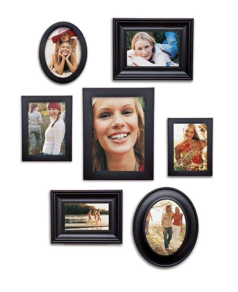 7 Piece Contemporary Black Picture Frame Set by Philip Whitney