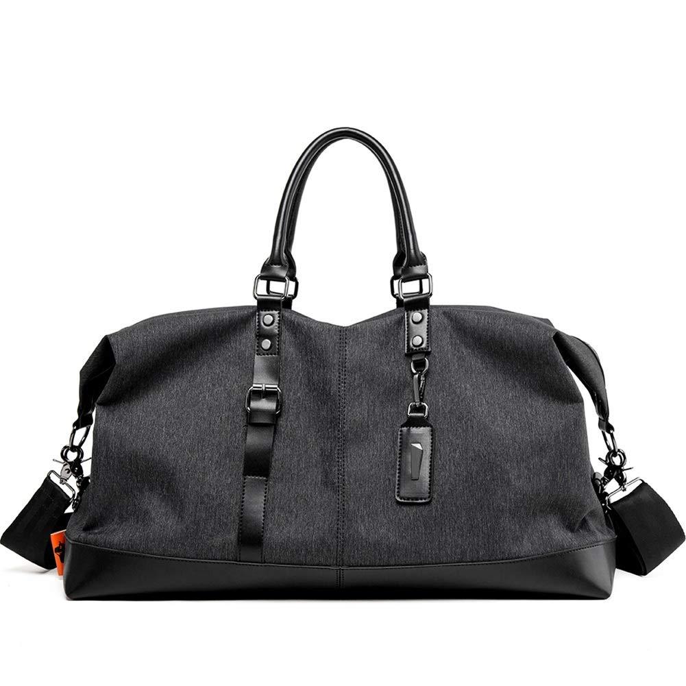 BLACK 5323.637.5cm Men's Backpack Business Bag Leisure Bag School Bag Laptop Bag Travel Bag, Male ShortDistance Business Sports Men's LargeCapacity Fitness Bag JINRONG (color   blueee, Size   44.1  25.8  20.7cm)