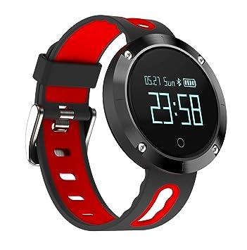 Smart Pulsera Deportes Bluetooth Paso Contador De Presión Arterial Sueño Monitor Impermeable De Dos Colores Correa,Black: Amazon.es: Coche y moto