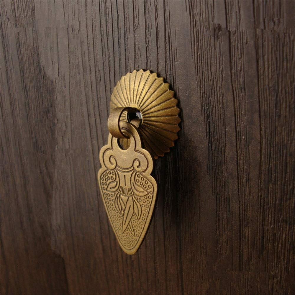 poign/ées en laiton de style chinois traditionnel for la porte en bois de tiroir de meuble Armoire /à portes 8pcs poign/ées en bronze antiques de baisse Poign/ée de porte en m/étal vintage Ensemble