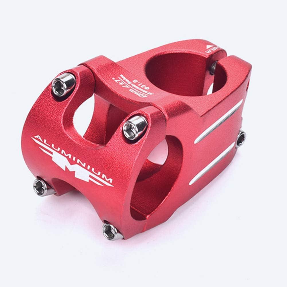 40 mm DishyKooker Attacco Manubrio MTB Attacco Manubrio Manubrio Bici 31,8 Argento 40 mm in Lega di Alluminio Attacco Manubrio Manubrio Attacco Manubrio Corto in Lega di Alluminio Manubrio 31,8