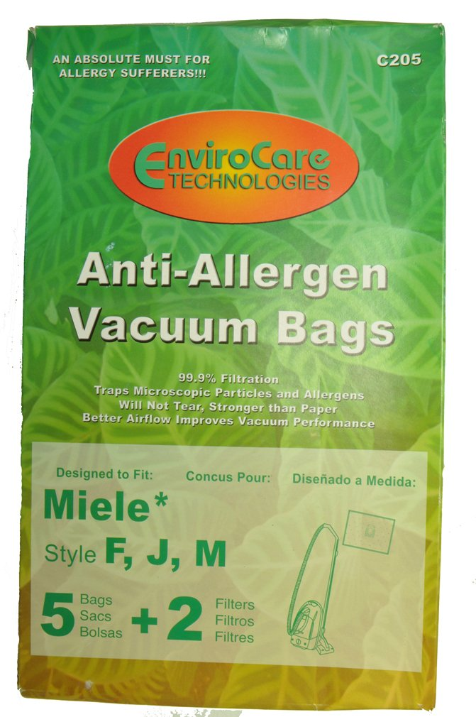 1 X Type F, J, M, Miele Vac Cleaner Bags
