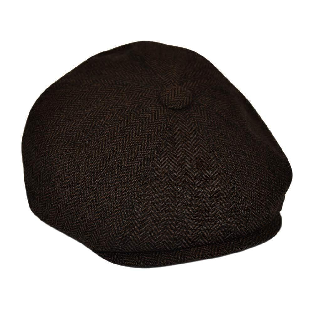 tipo coppola G /& H Great Horse /marrone scuro berretto in tessuto a spina di pesce
