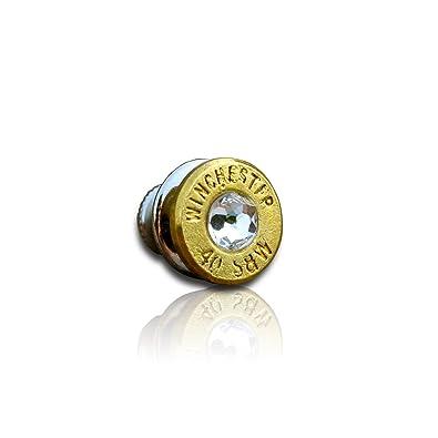 Pin de corbata, bala (oro) y cristales de Swarovski para hombre ...
