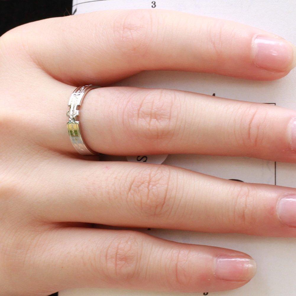 Titanium Romantic Lettering Wedding Band Flat Polished Couple Ring ...