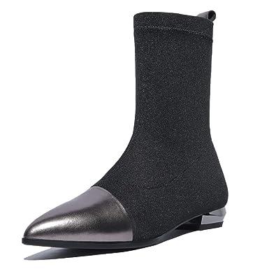 4152ded859107 ZPEDY Chaussures pour Femmes, Pointues, Bottines, Style Européen Et  Américain, Sauvage,