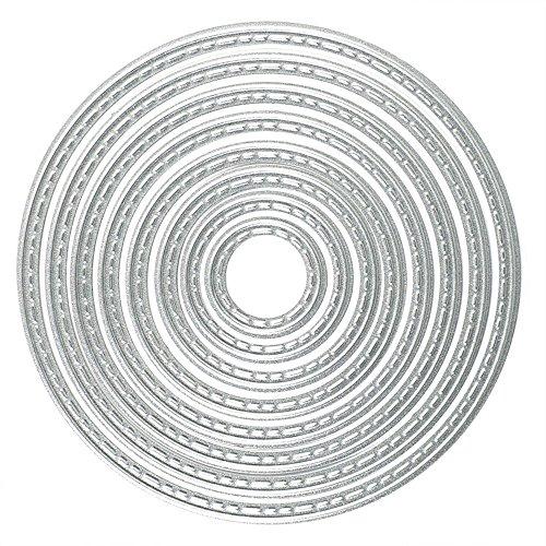 BronaGrand 8 Pcs Circle Round Metal Cutting Dies Stencils Set DIY Scrapbook Album Paper Card Set