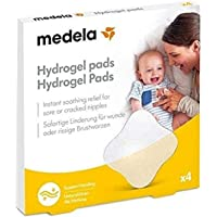 Medela Medela Hydrogel Breast Pads   Pack of 4   Cooling Relief for Sore Nipples from Breast Feeding   Easily Slip into…
