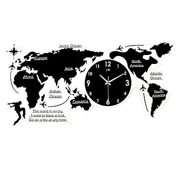 Weltkarte Wanduhr 3D Acryl Digitaluhr Stille Nicht Tickende Uhr Für  Wohnzimmer Schlafzimmer Büro Wanduhr Wandkunst