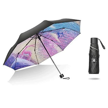 Paraguas Sombrillas protección UV sombrilla Plegable QIQIDEDIAN