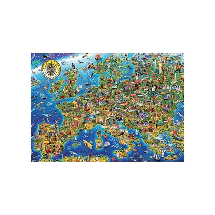 Número de piezas: 500, medida aproximada una vez montado: 48 x 34 Serie Genuine Alta calidad de materiales y encaje óptimo de las piezas; producto respetuoso con el medioambiente