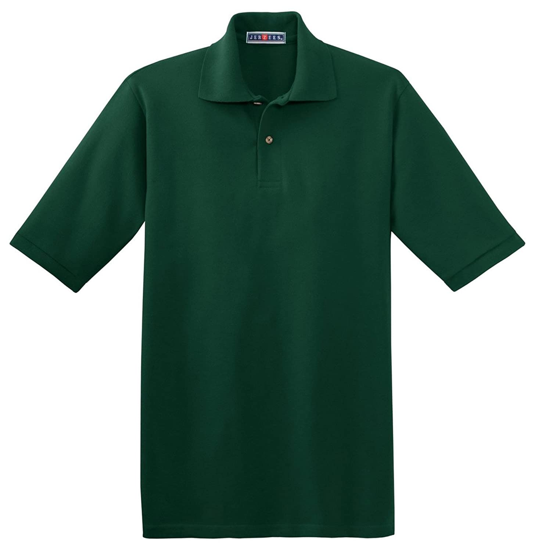 Jerzees Men's Ring-Spun Cotton Piqu@ Polo - Forest Green - S